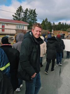 Iain at the the renaming of Beechville Industrial Park march.